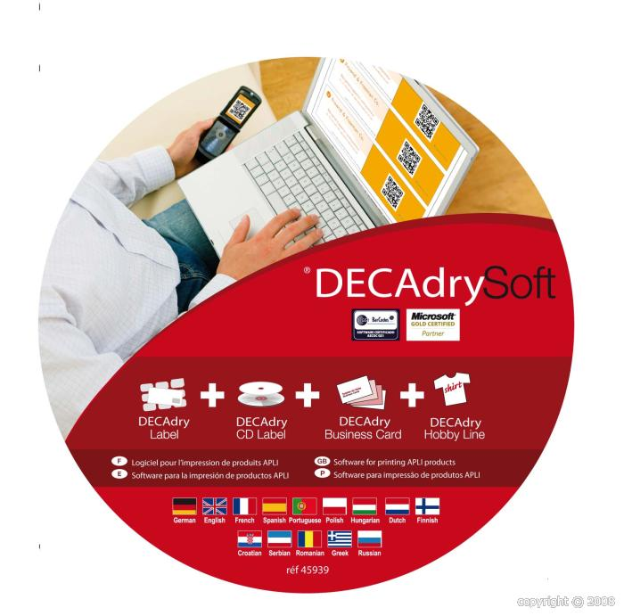Decadry business card software download readysokol for Decadry business card template