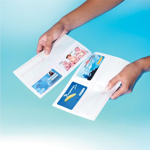 Autres Cartes 11285F 100 De Visite Verge Creme 89 X 51 Mm 11661F Gris