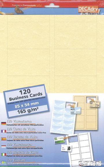 SCB2028 Cartes De Visite MicroLine Multi Usage 85 X 54 Mm